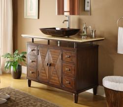 Install bathroom vanity