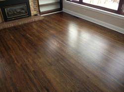 Install Hardwood flooring dark
