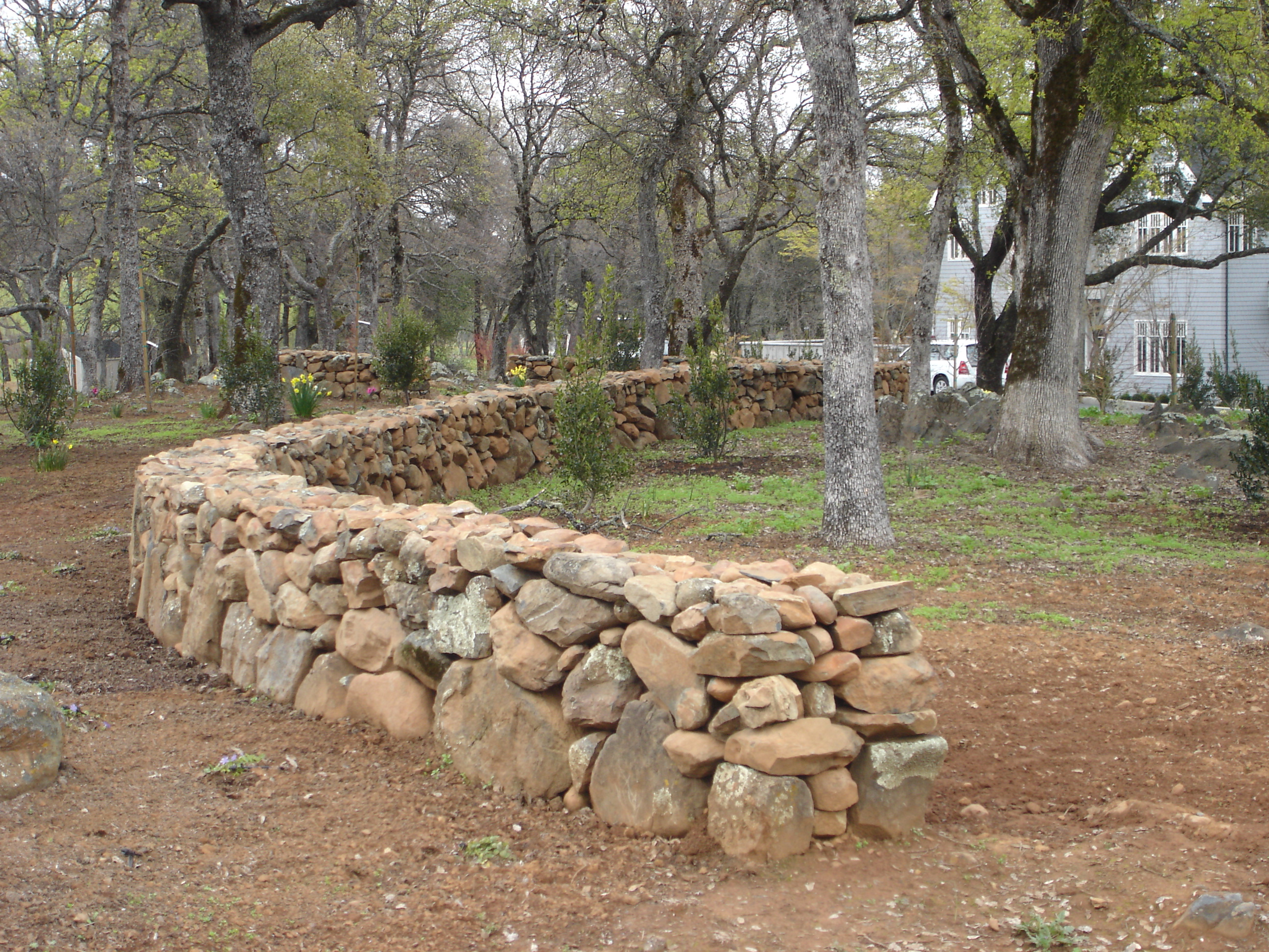 Install Stone Fence