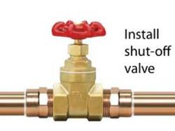 Install Shut off Valve