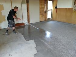 Painting floor, Basement