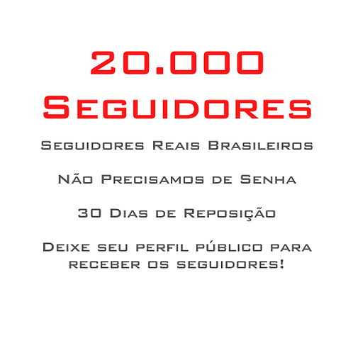 20.000 Seguidores