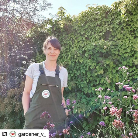 """Loving my new work dungarees - made for women, by women, so they fit perfectly"" - Verena"