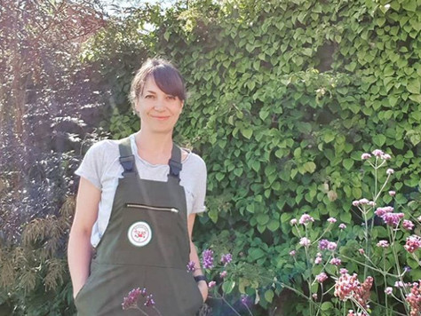 """""""Loving my new work dungarees - made for women, by women, so they fit perfectly"""" - Verena"""