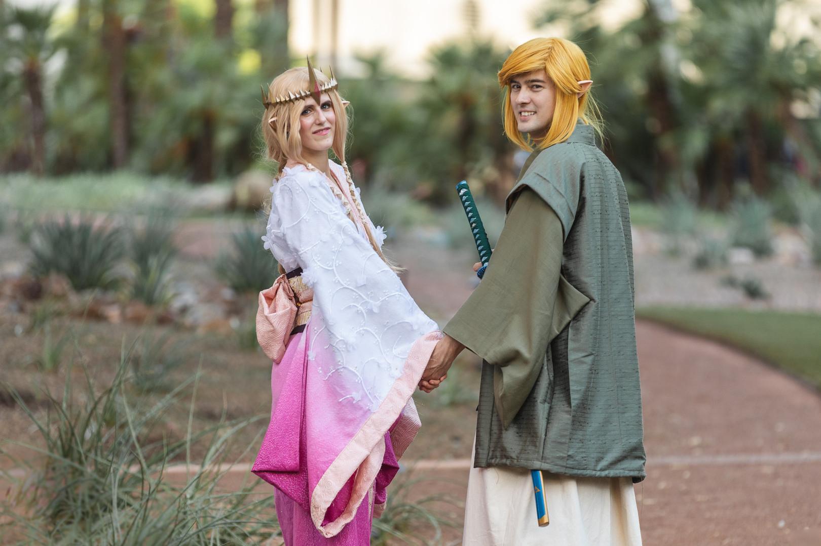 link and zelda cosplay