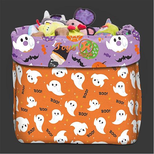 Caixa de Brinquedo Halloween Fantasminhas