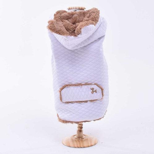 Casaco Ursinho Branco/Toffee