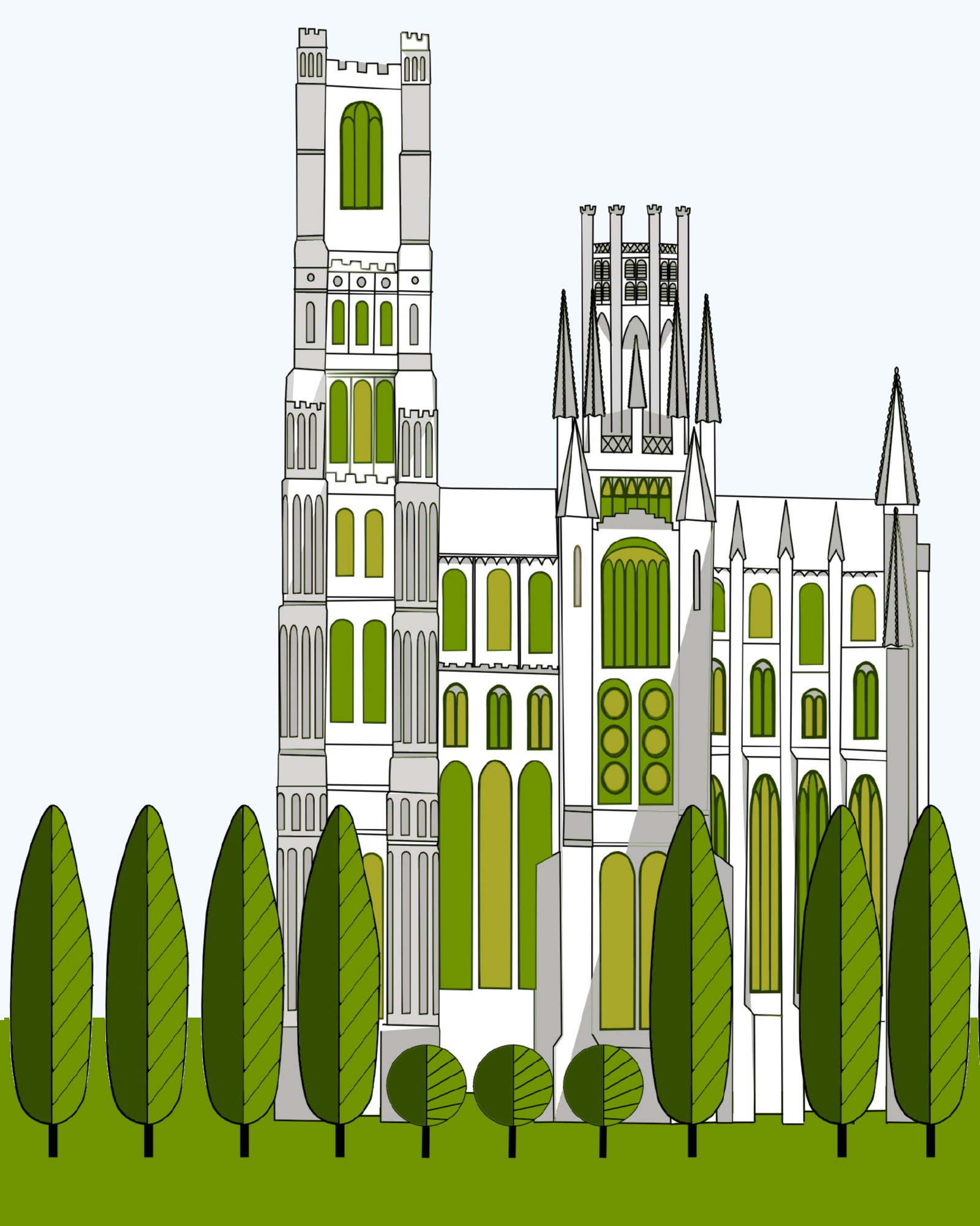 #48 Ely Cathedral South Elevation