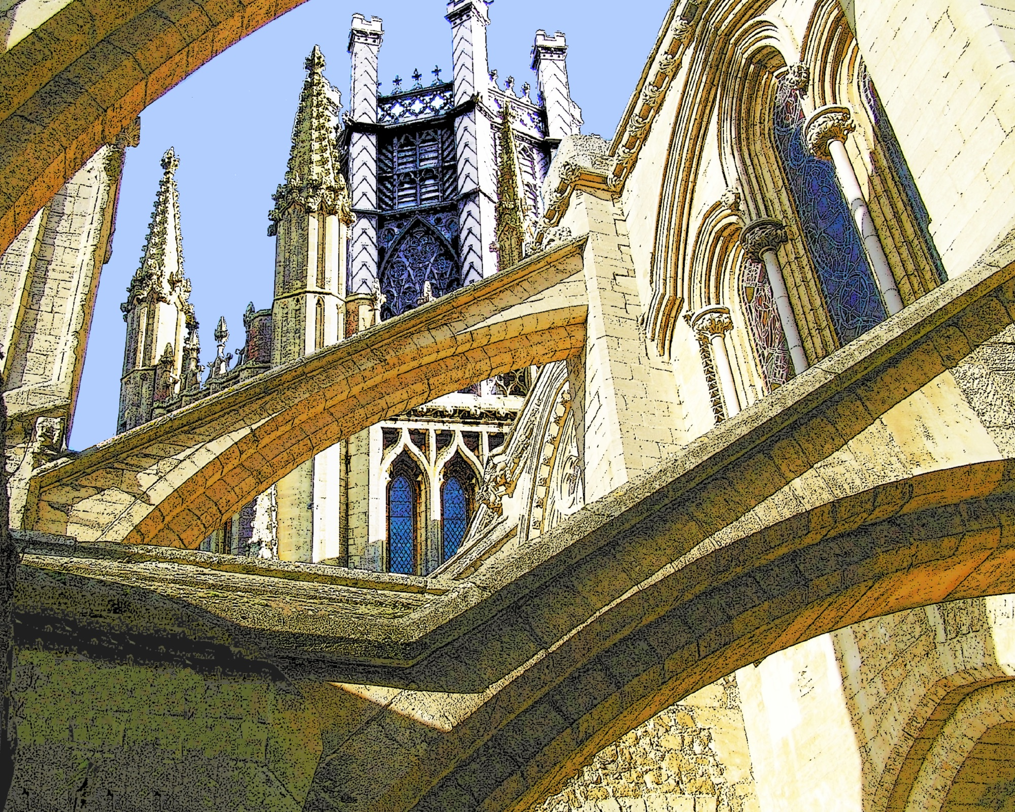 #22 Ely Octagon and Buttresses 2