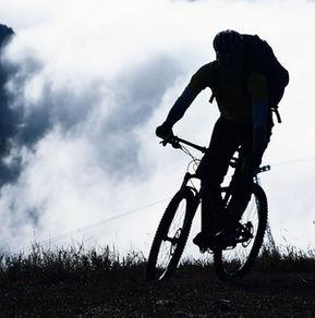Mountain bike in the Fog
