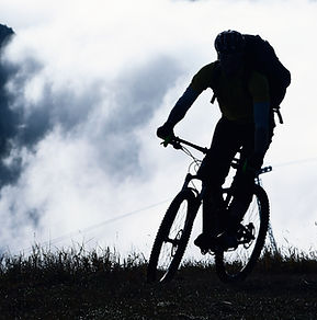 Mountain bike in the Fog
