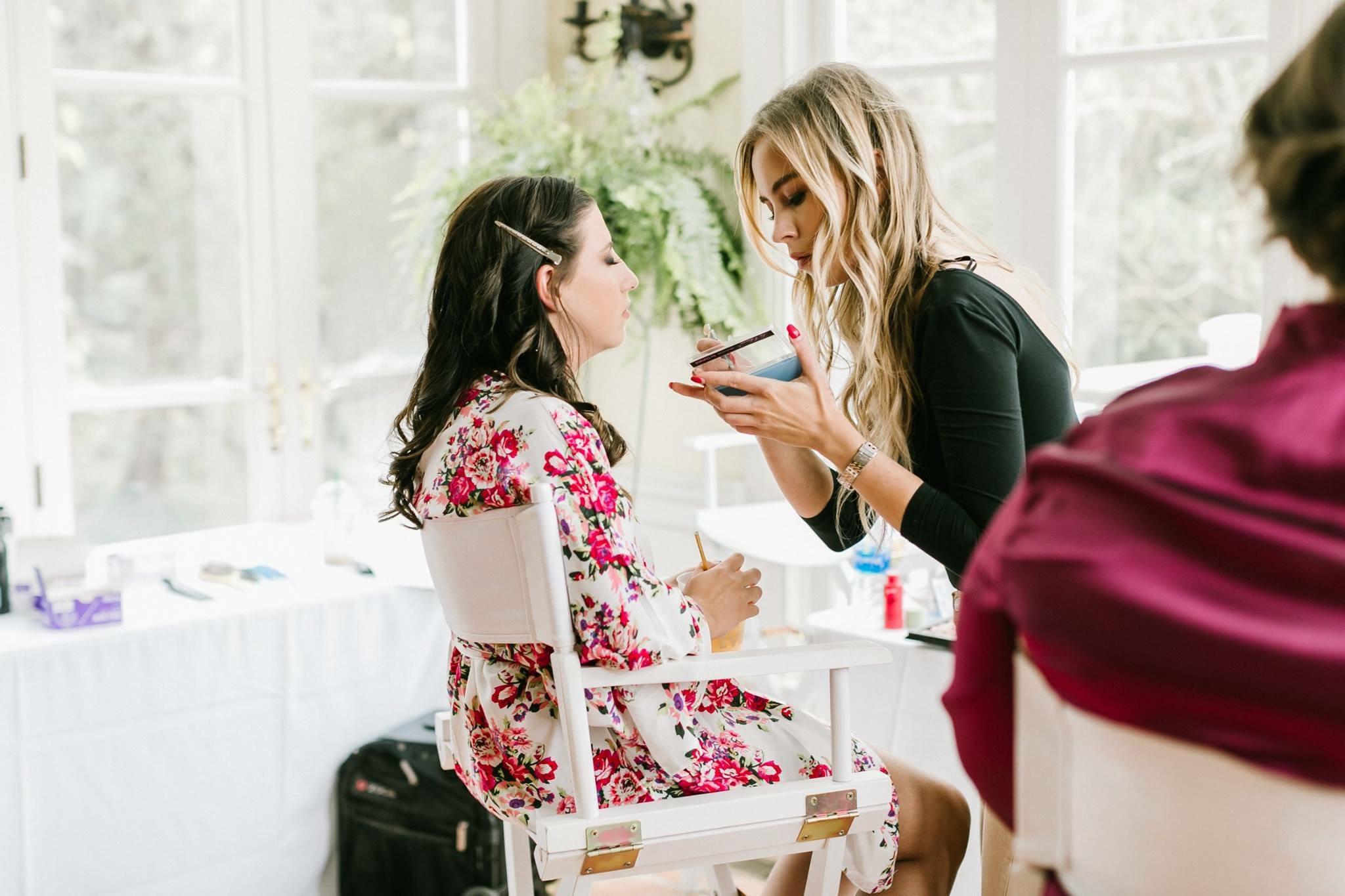 Bridal Party Hair & Makeup (eyelashes)