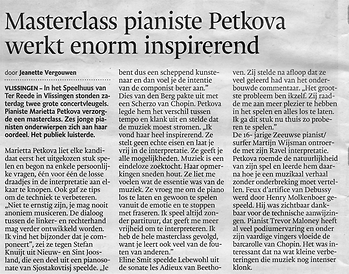 Masterclaas Petkova inspirerend