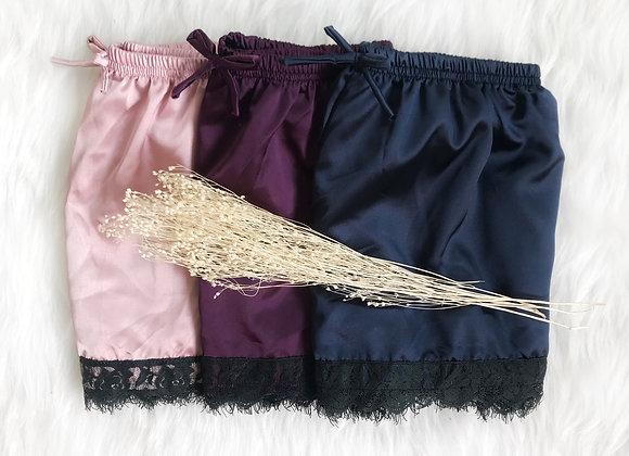 Melody Lace Satin Shorts