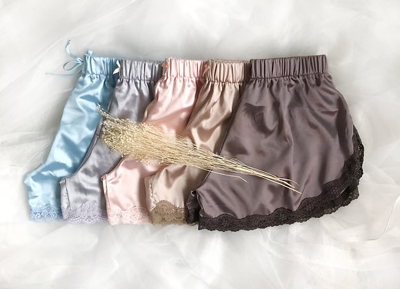 Larel Lace Satin Shorts