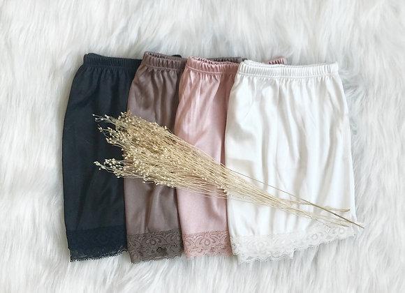 Aura Lace Satin Shorts