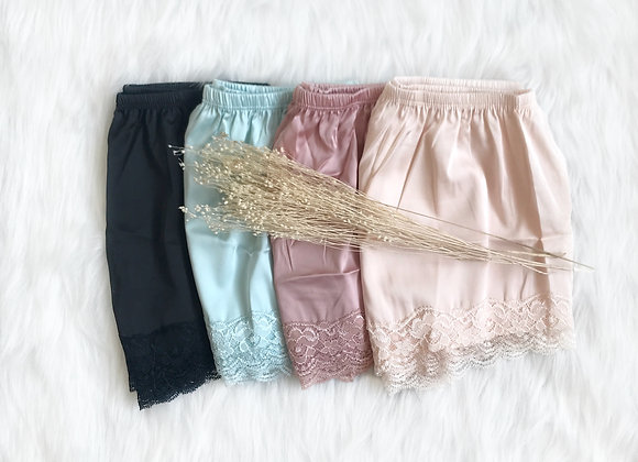 Saily Lace Satin Shorts