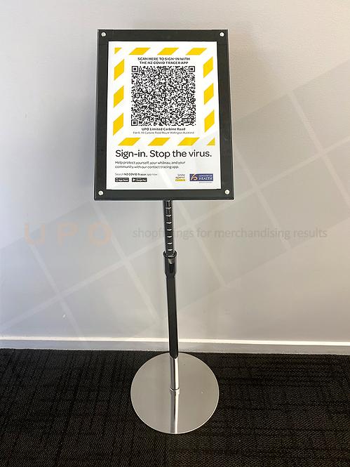 QR Code Freestanding sign holder
