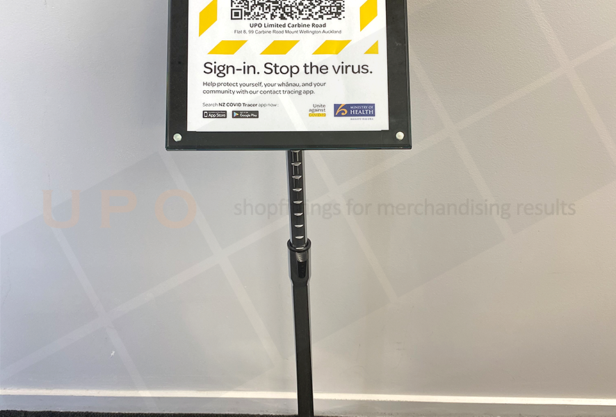 QR Code Freestanding sign holder