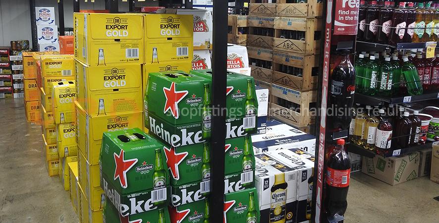 Chiller Shelving for Liquor Store