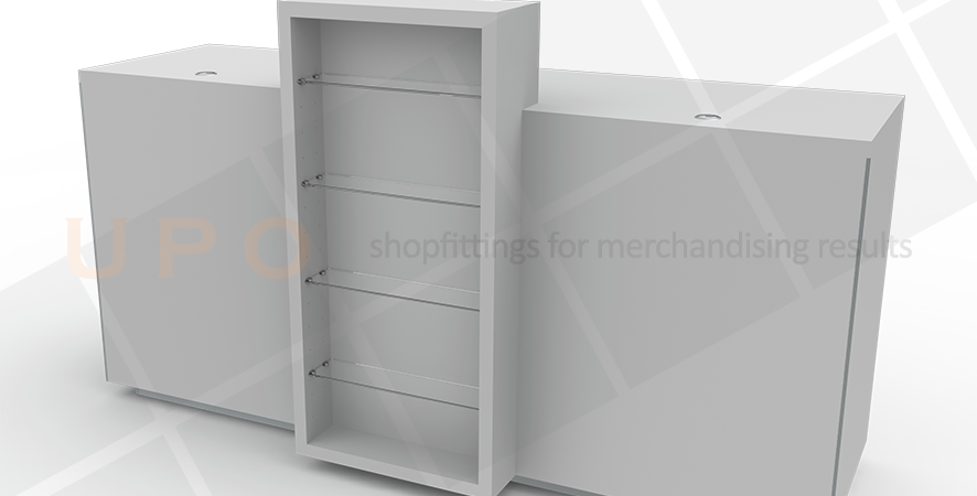 Point of Sale Counter with Promotional Unit
