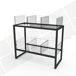 Impulse Table (Black) - 3 Bay_6 Cube