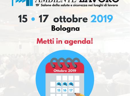 AMBIENTE LAVORO / BOLOGNA 15-17 OTTOBRE 2019