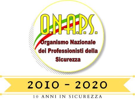 TESSERAMENTO 2020: FESTEGGIA CON NOI I 10 ANNI DELL'ORGANISMO
