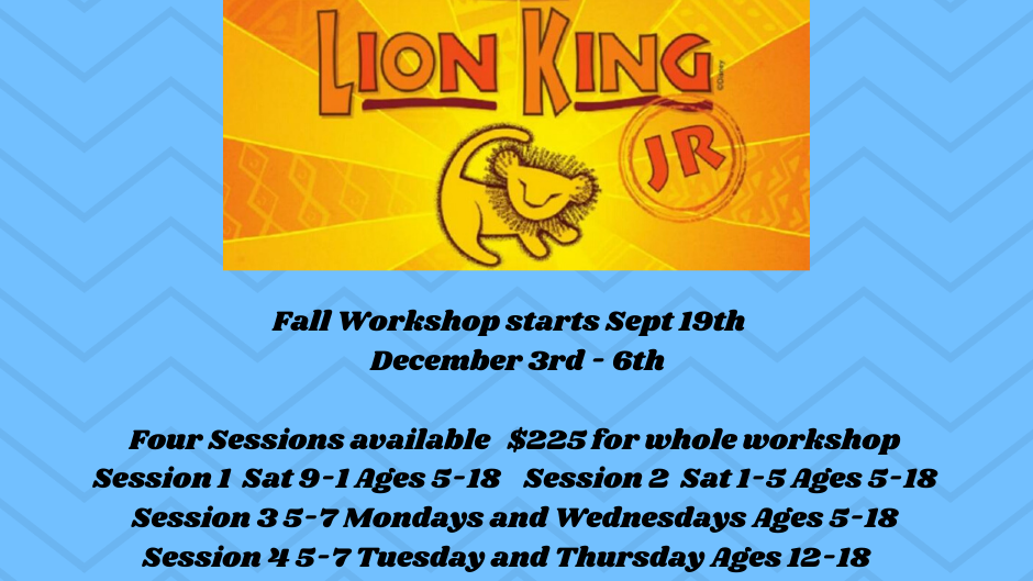 Lion King Session 4 Payment Plan