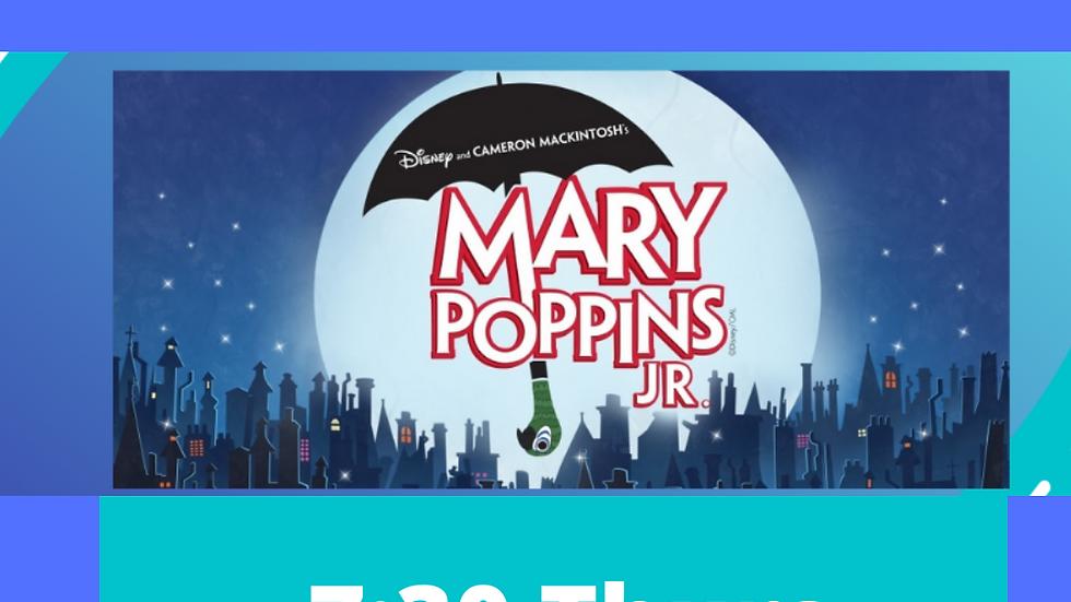 Mary Poppins Junior Teen Cast A 7:30 April 29