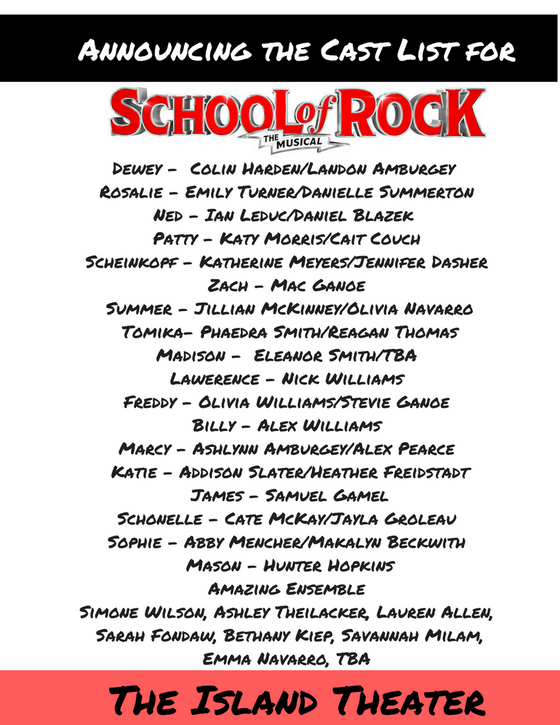 Announcing the Cast of School of Rock