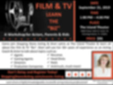 TV Film Learn the Biz Flyer - WITH PRICE