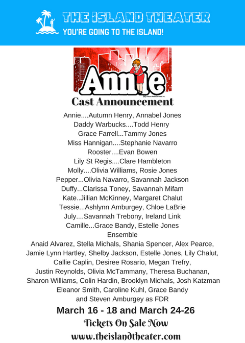 Announcing the Annie Cast!