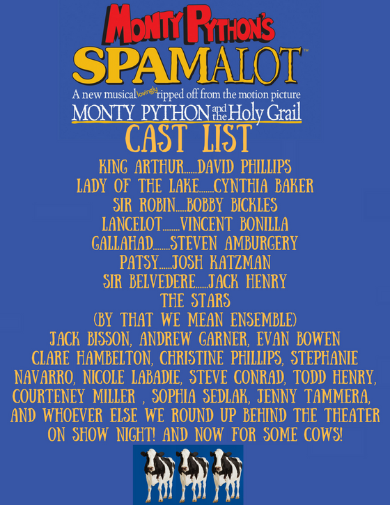 Announcing the Cast of Spamalot