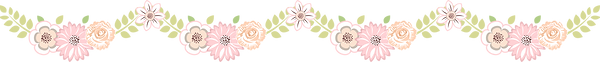 8 Floral Border ClipArt 12 inches wide.p