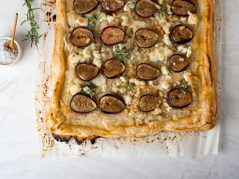 Onion Fig Tart