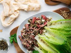 Steak and Romain Salad