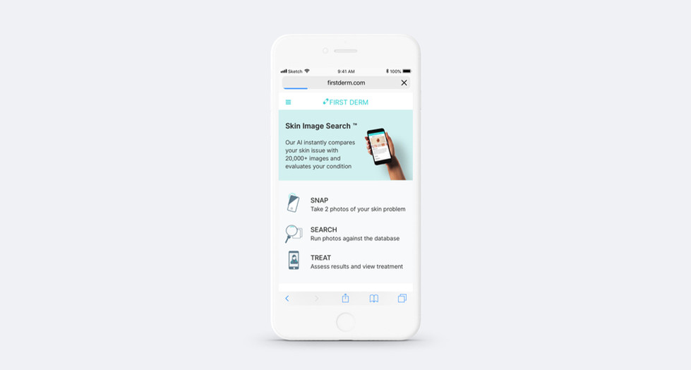 First Derm - Responsive Web App