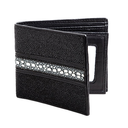 Makai - Genuine Stingray Bifold Wallet 1 Stripe
