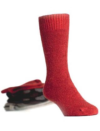 Koru - Fur, Merino, and Silk Socks