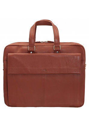 Mancini -  Double Compartment Briefcase for Laptop