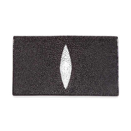 Makai - Genuine Stingray Checkbook Wallet 1 Oval
