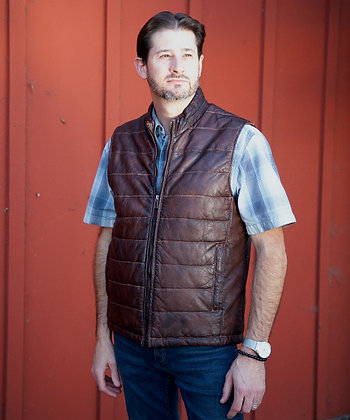 Missani - Men's Washed Lamb Quilted Vest
