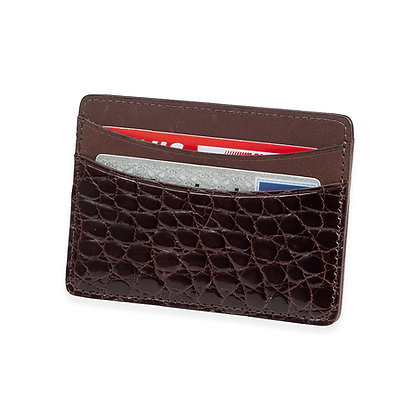 Martin Dingman - American Alligator Card Case Brown