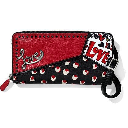 Brighton - Crazy Love Large Zip Wallet