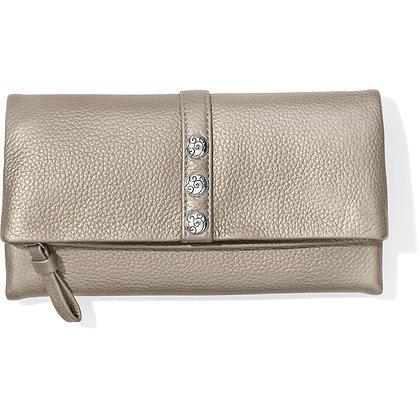 Brighton - Nolita Shimmer Large Wallet Zinc