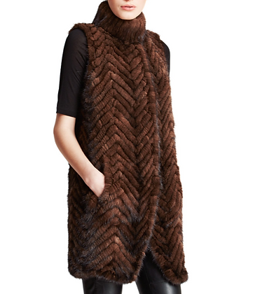 Bell Fare - Knitted Mink Tunic Vest