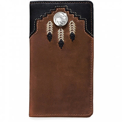 Brighton - Chieftain Feather Checkbook Wallet