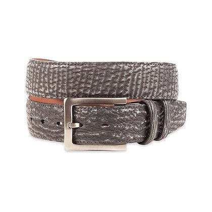 Torino Leather - Genuine Sharkskin-Charcoal Belt