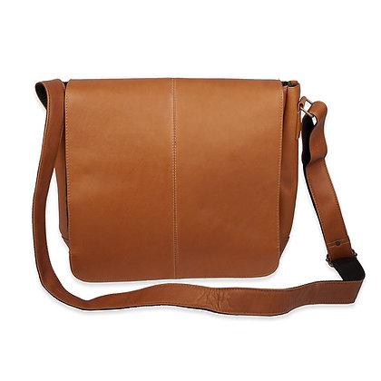 David King -  Leather Laptop Messenger